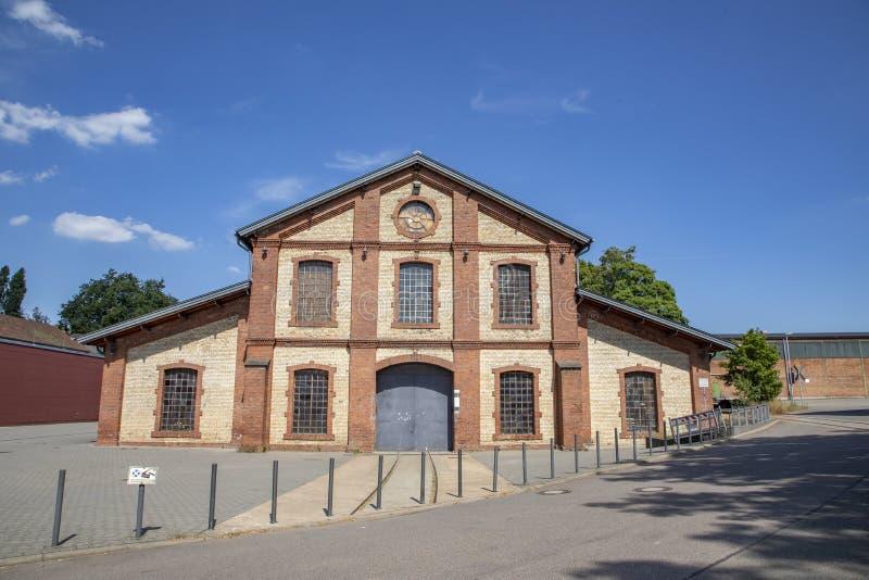 el antiguo salón de la industria al final de Schmelz fue convertido en un lugar de eventos foto de archivo