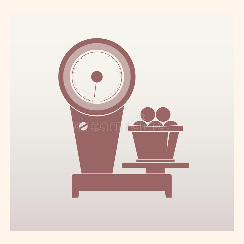 El anuncio publicitario escala el icono ilustración del vector