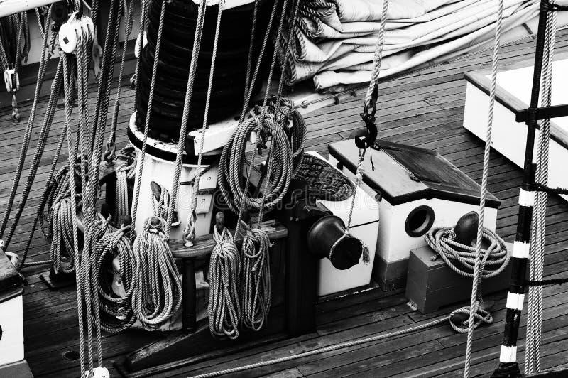 El aparejar náutico de las naves imagen de archivo