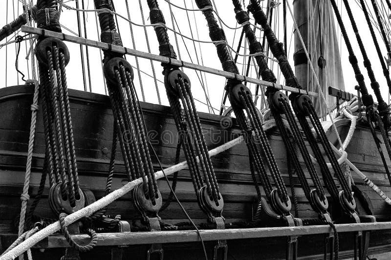 El aparejar náutico de las naves fotografía de archivo libre de regalías