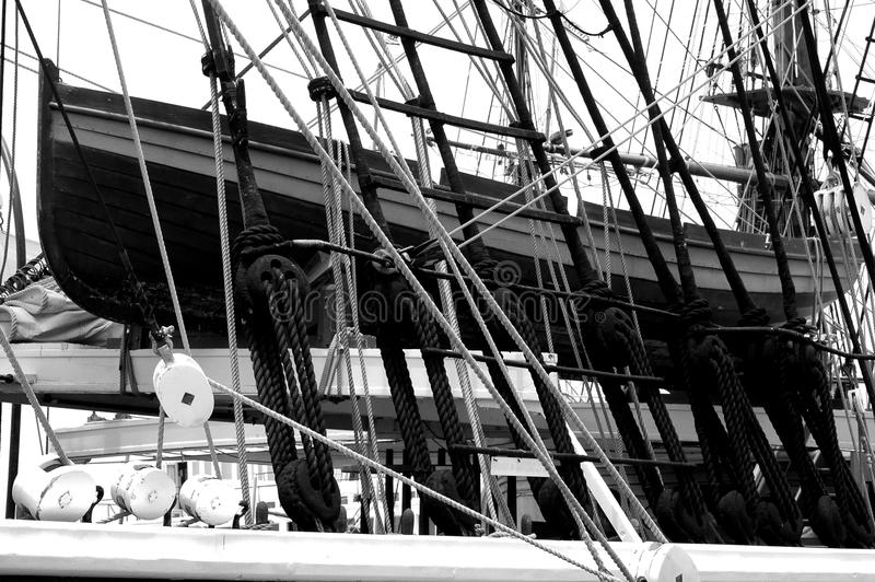 El aparejar y ancore náuticos de las naves fotos de archivo