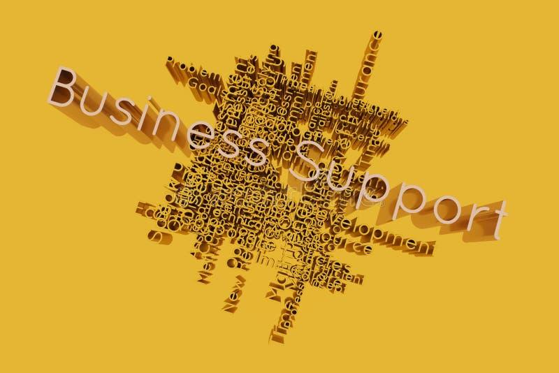 El apoyo a empresas, la palabra clave del negocio y las palabras se nublan Para la p?gina web, el dise?o gr?fico, la textura o el stock de ilustración