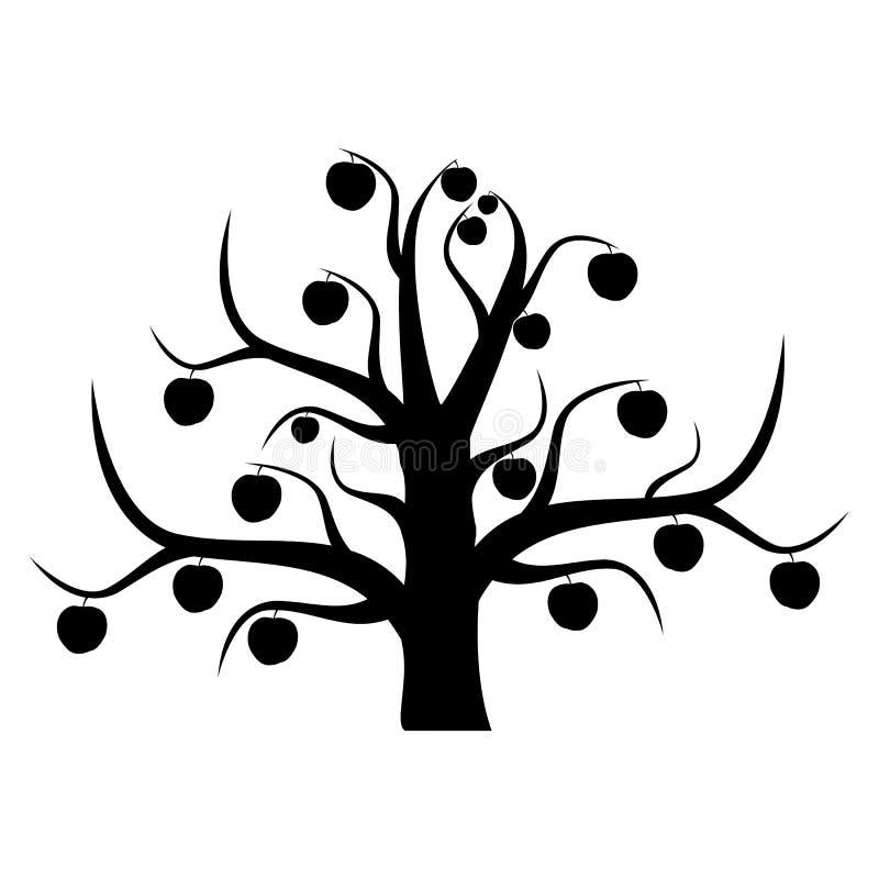 El apple-árbol inusual ilustración del vector