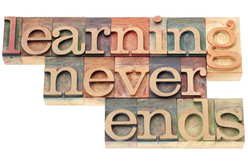 El aprendizaje nunca termina fotografía de archivo