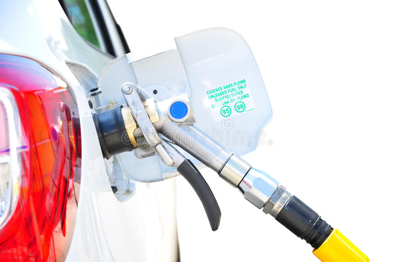 El aprovisionar de combustible del gas del LPG fotos de archivo