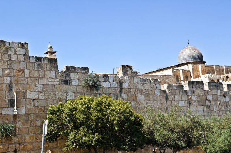 El Aqsa dome royalty free stock photography