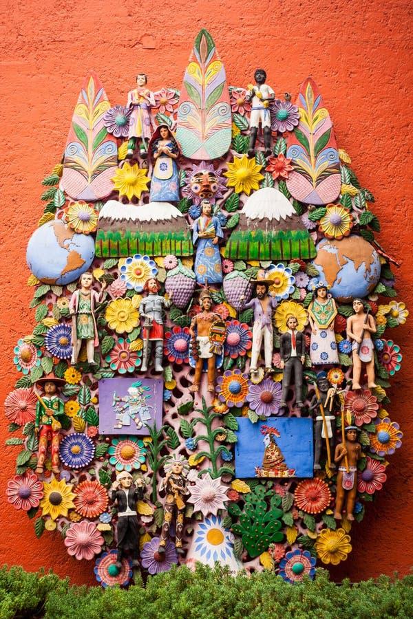 EL arbol de Λα vida, το δέντρο της ζωής, μια των Αζτέκων παράδοση στοκ εικόνες με δικαίωμα ελεύθερης χρήσης