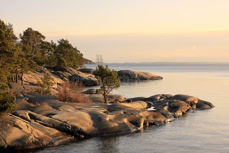 El archipiélago de Estocolmo imagen de archivo