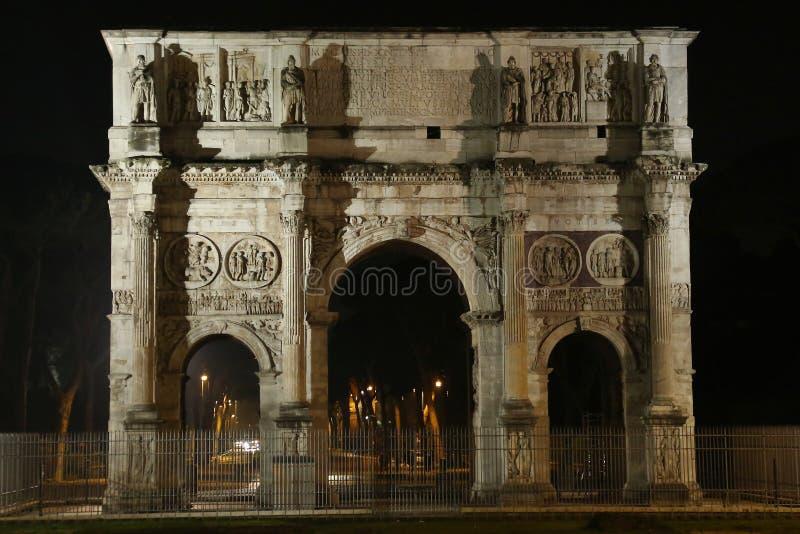 El arco de Constantina, Roma, Italia foto de archivo libre de regalías