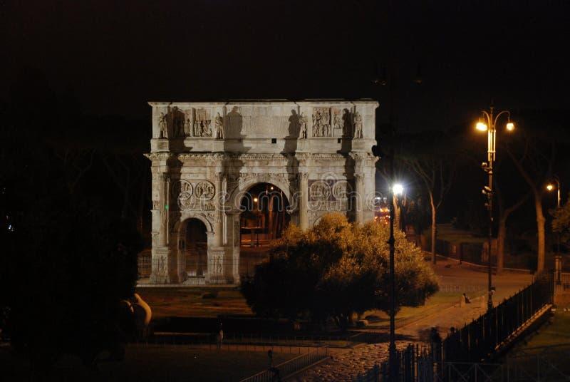 El arco de Constantina, Roma, Italia foto de archivo