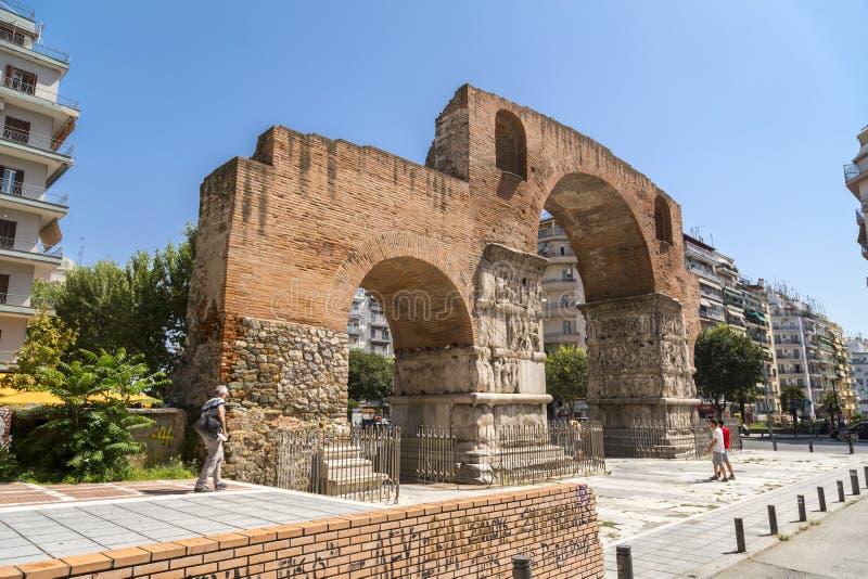 El arco de Galerius en Salónica, Grecia foto de archivo libre de regalías