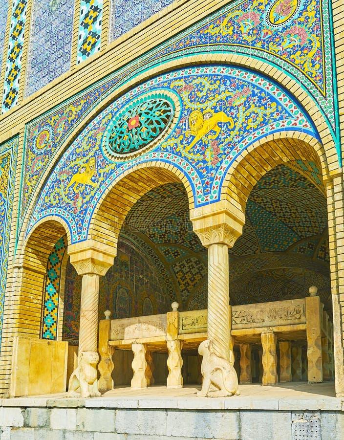 El arco de Karim Khani Nook, palacio de Golestan, Teherán fotografía de archivo