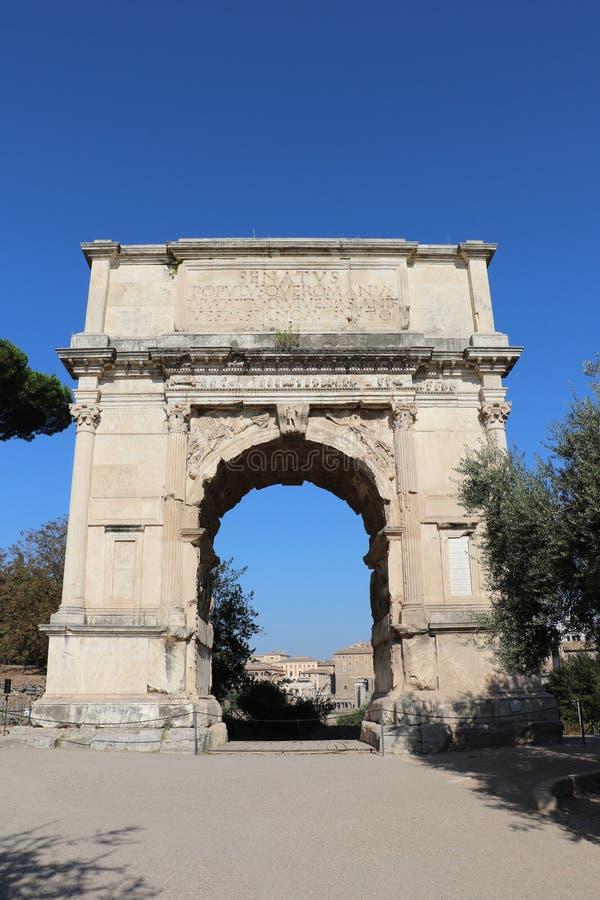 El arco de Titus fotografía de archivo