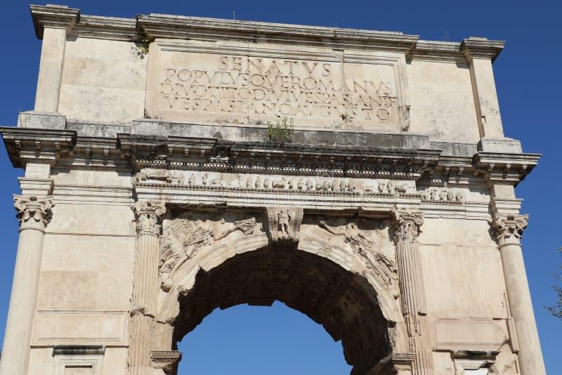 El arco de Titus fotografía de archivo libre de regalías