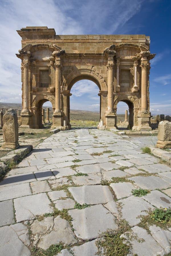 El arco de Trajan fotografía de archivo