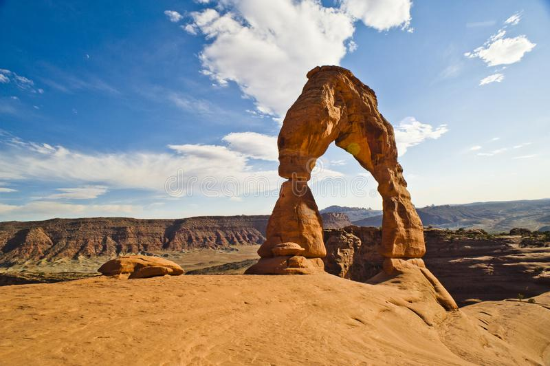 El arco delicado, arquea el parque nacional, Moab Utah fotos de archivo