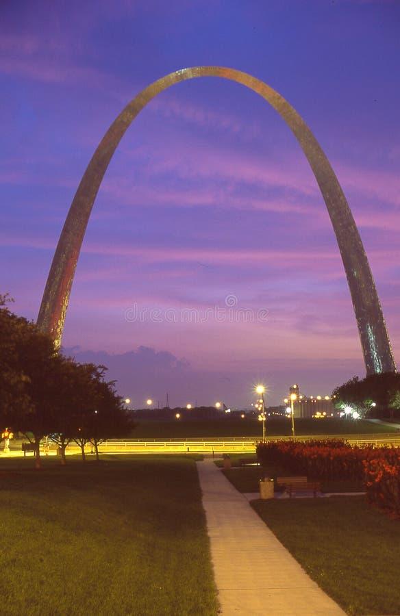 El arco en St. Louis, MES fotografía de archivo
