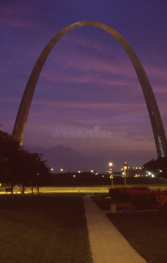 El arco en St. Louis, MES foto de archivo libre de regalías