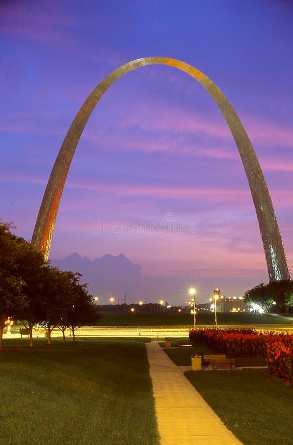 El arco en St. Louis, MES fotos de archivo