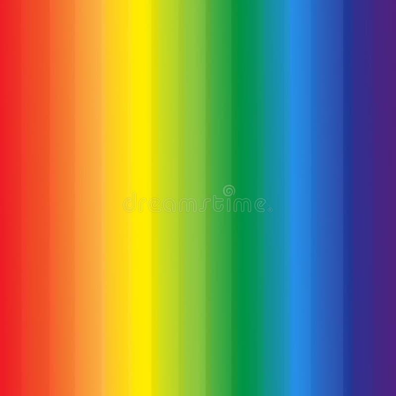 El arco iris abstracto colorea el fondo de las rayas stock de ilustración