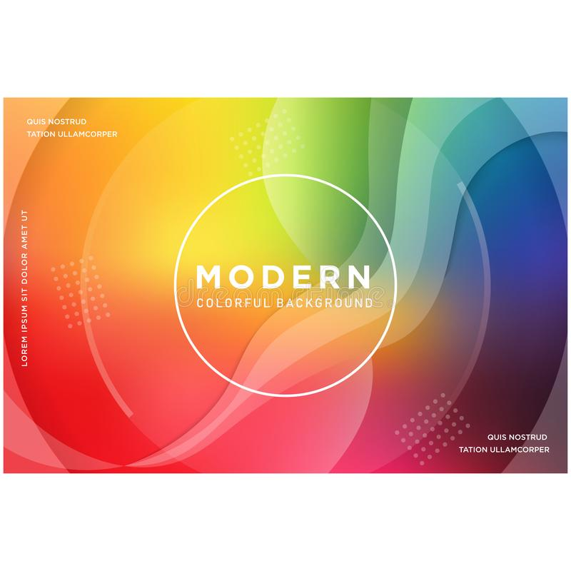 El arco iris abstracto colorea el fondo stock de ilustración