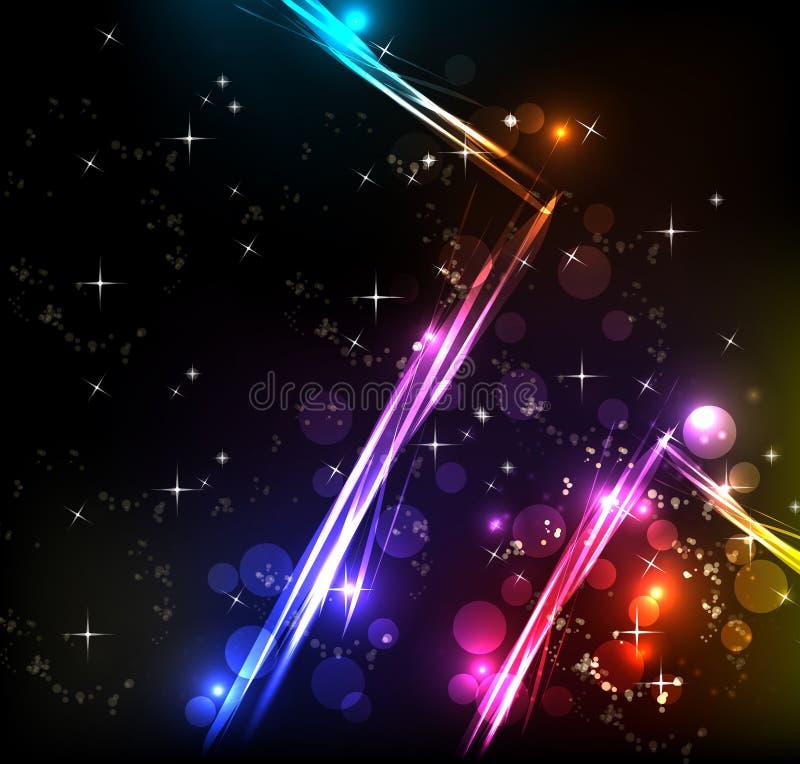 El arco iris alinea el fondo libre illustration