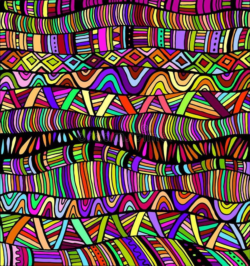 El arco iris colorea el modelo abstracto, laberinto de ornamentos ilustración del vector
