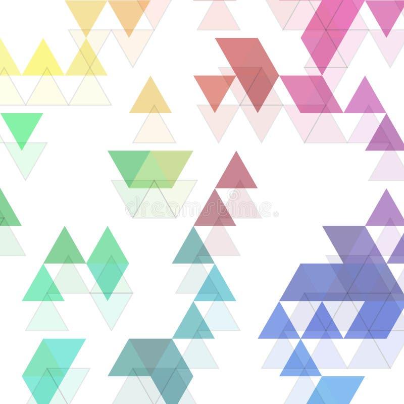 El arco iris colorea el modelo triangular del vector Fondo abstracto EPS 10 ilustración del vector