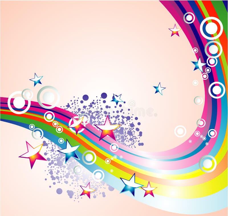 El arco iris de Absrtact Stars el fondo libre illustration
