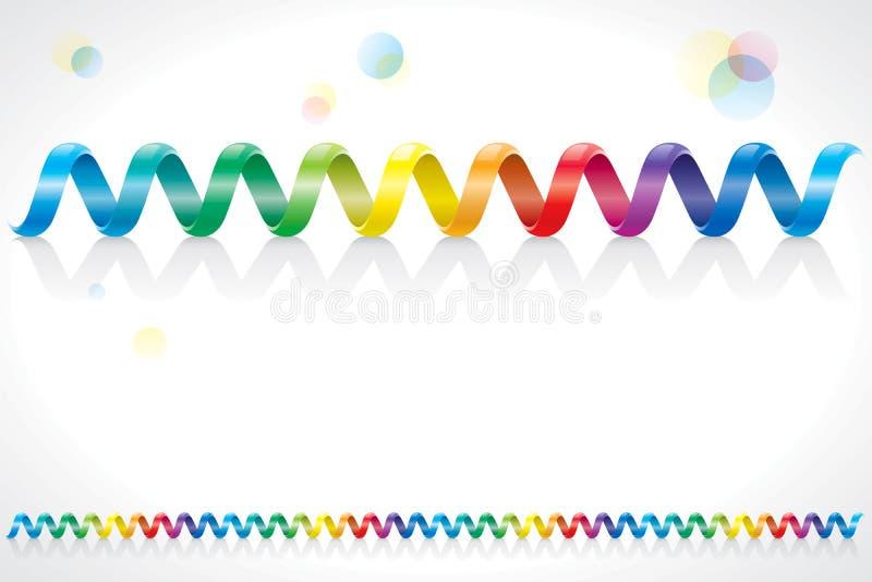 Cable espiral del arco iris ilustración del vector