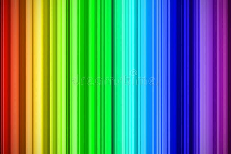 El arco iris frota ligeramente el fondo abstracto ilustración del vector