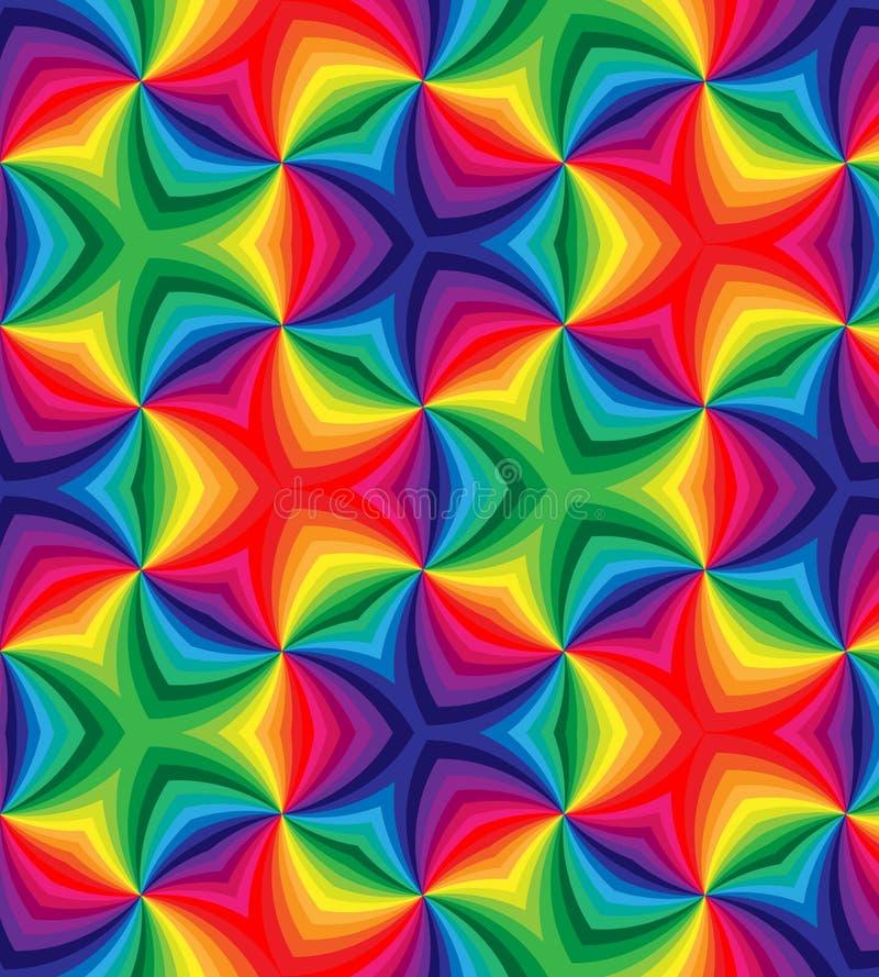 El arco iris inconsútil coloreado encrespa el modelo Fondo abstracto colorido geométrico ilustración del vector