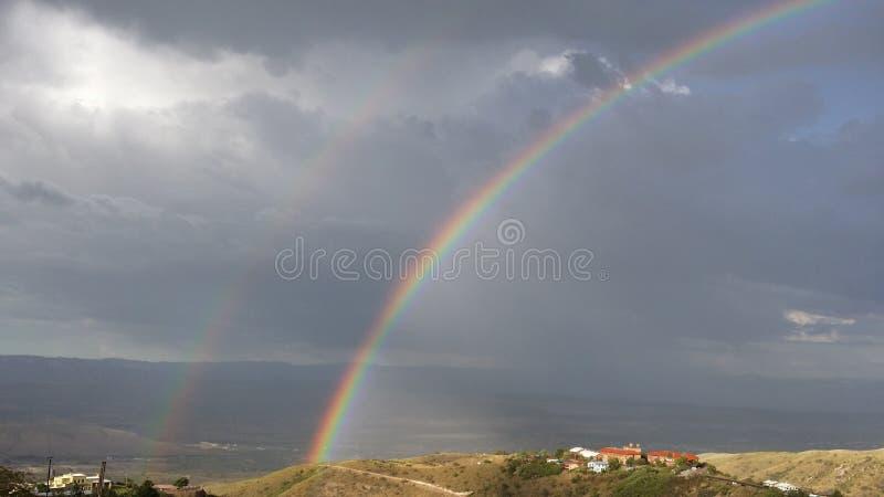 El arco iris superior de Jerome foto de archivo libre de regalías