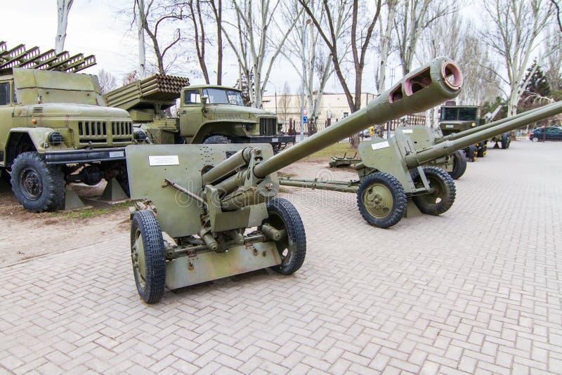 El arma divisional de 76 milímetros de los 1942 ZiS-3 modelo foto de archivo libre de regalías