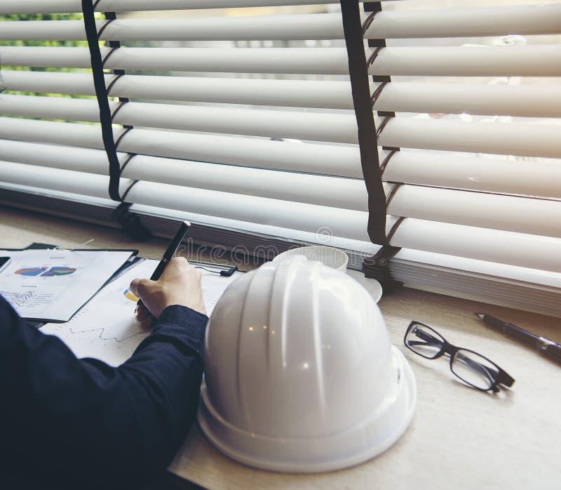 El arquitecto y la reunión de planificación del hombre de negocios a trabajar con el compromiso, fijaron mente imagen de archivo libre de regalías