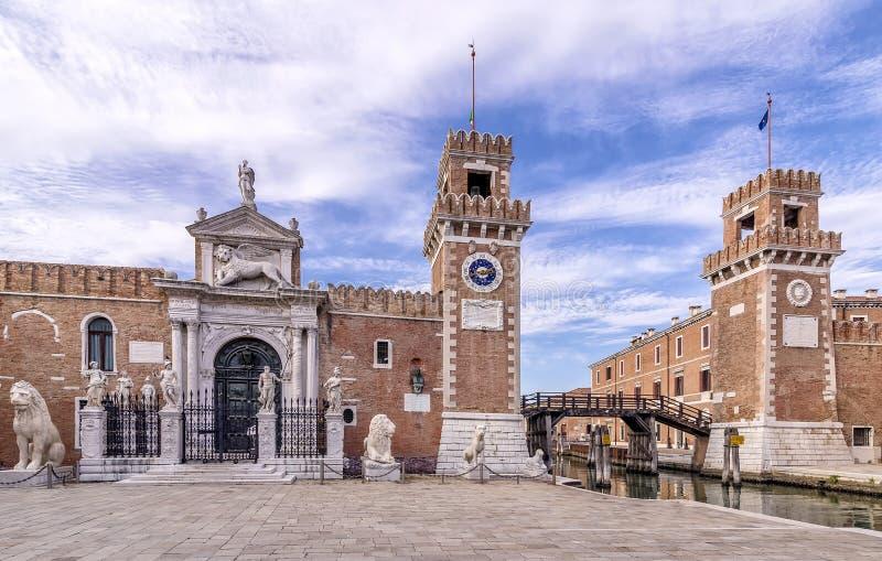 El arsenal de Venecia, Véneto, Italia fotografía de archivo