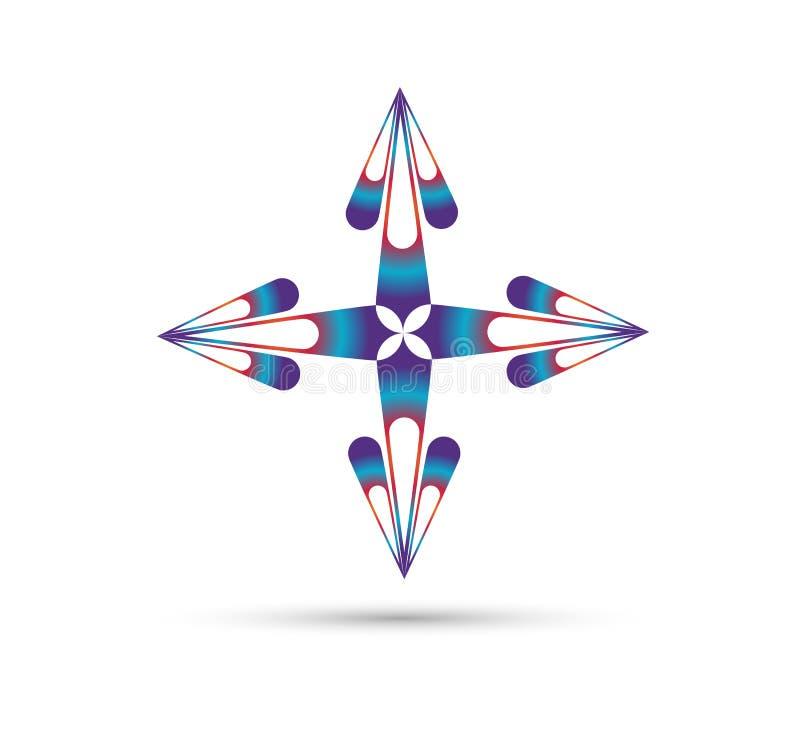El arte de la flor, logotipo del vector del tema, icono aislado, se enciende en el fondo blanco ilustración del vector