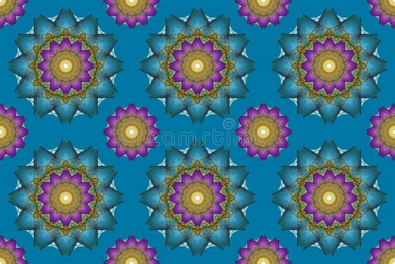 El arte de la mandala, flores abstractas inconsútiles del caleidoscopio wallpaper vagos ilustración del vector