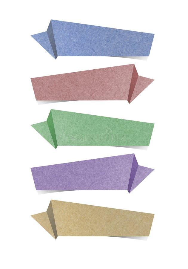 El arte de papel reciclado escritura de la etiqueta para hace el palillo de la nota imagen de archivo