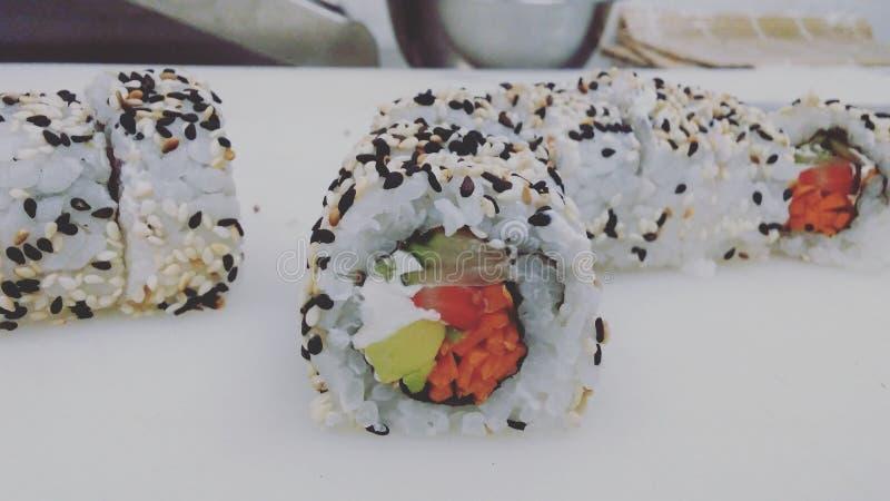 El arte del sushi 免版税库存图片