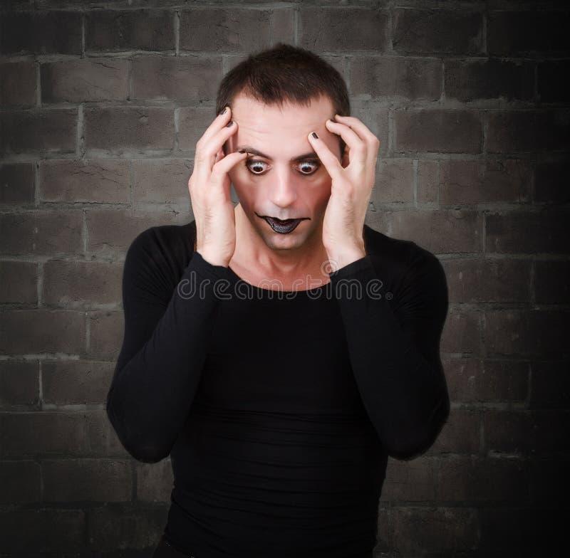 El artista gótico como imita horror imagen de archivo
