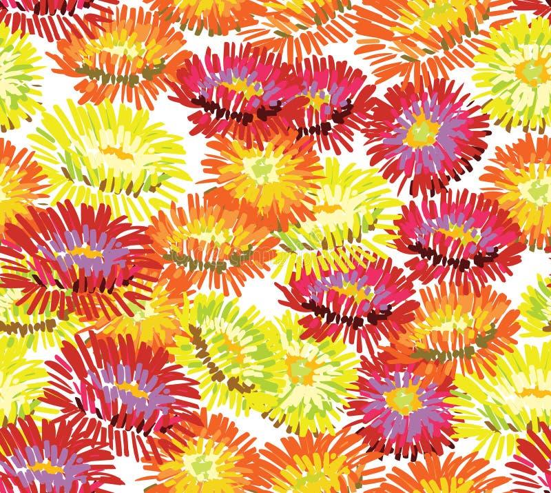 El aster florece el papel pintado ilustración del vector