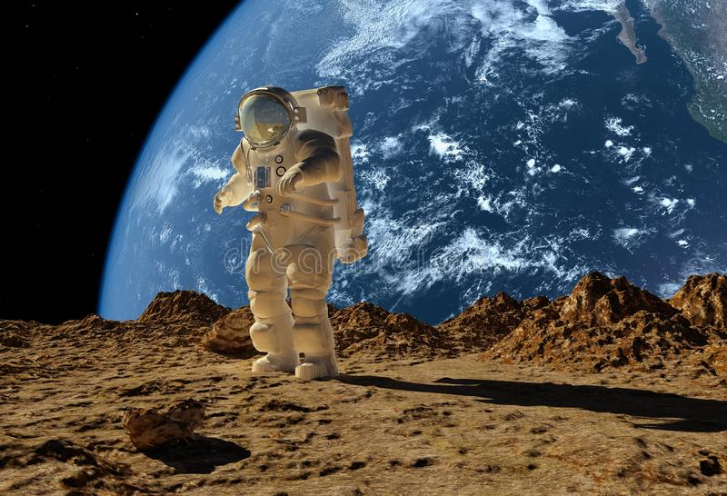 El astronauta ilustración del vector