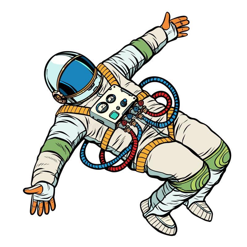 El astronauta quiere un abrazo stock de ilustración