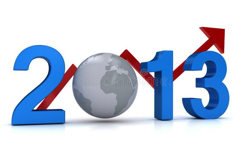 el asunto de 2013 años crece concepto ilustración del vector