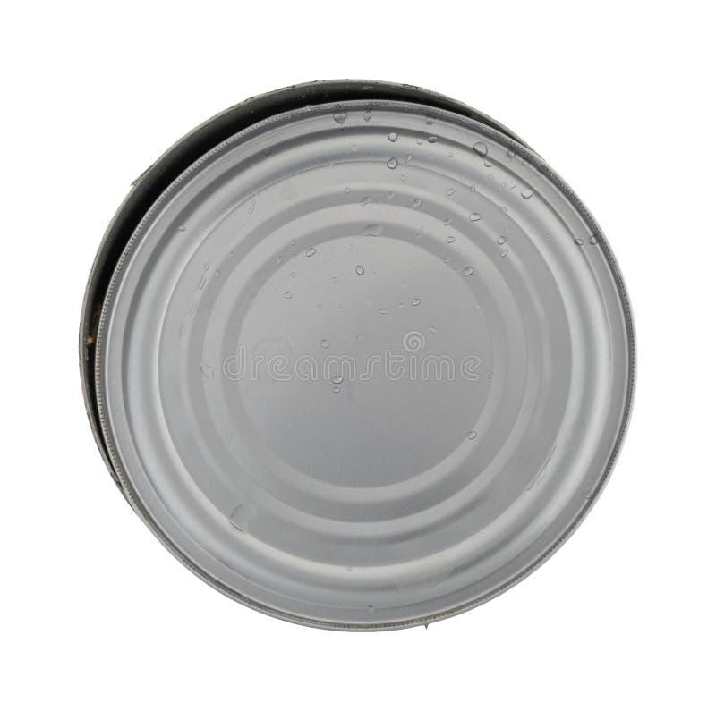 El atún vacío puede con la tapa en el top imagen de archivo libre de regalías