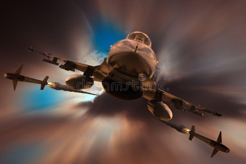 El atacar F-16 fotografía de archivo libre de regalías