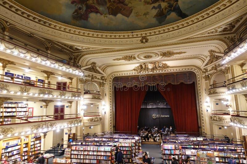 El Ateneo书店在布埃诺斯亚耳 免版税库存图片