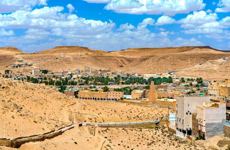 El Atteuf, M ` Zab谷的一个老镇在阿尔及利亚 免版税库存照片
