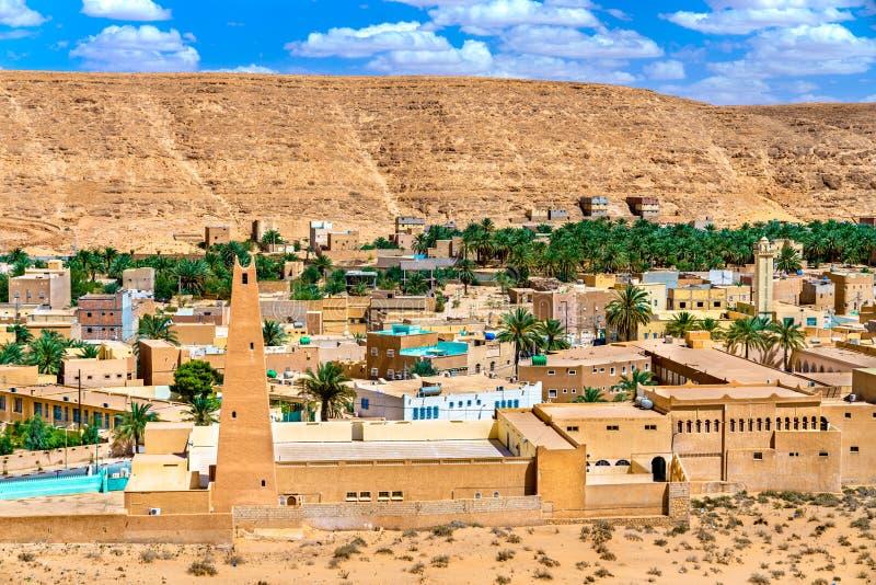 EL Atteuf, eine alte Stadt im m-` Zab-Tal in Algerien lizenzfreie stockbilder